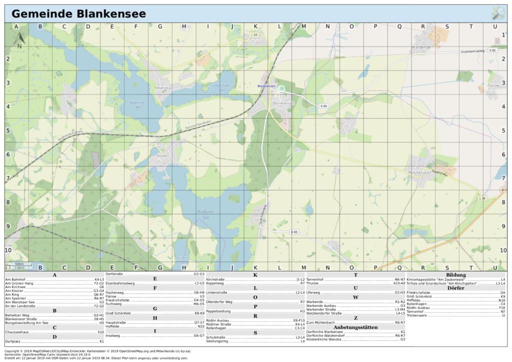 Mecklenburgische Seenplatte Karte Pdf.Karten Blankensee In Mecklenburg